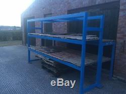 Heavy Duty Metal Pallet Shelf Workbench 3 Metre Wide x 1.5 Metre Deep
