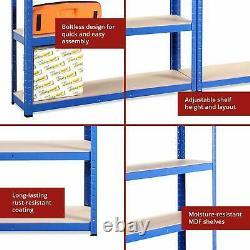 Heavy Duty Metal Storage 5Tier Shelving Boltless Racking Shelf S247