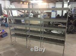 Heavy Duty Metal Van Or Garage Workhop Racking With 5 Shelves Look Bargain