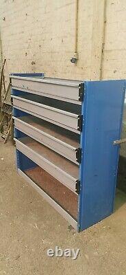 Heavy Duty Metal Van Shelving Rack, Grey and Blue