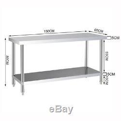 Heavy Duty Metal Workbench Work Station Bench Table Wall Shelf Garage Shed Unit