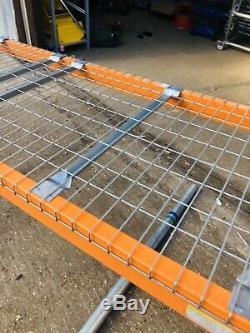Heavy Duty Pallet Racking 1 Bay Beams 2.7m Long 2Tonne 3m X 90cm Deep With mesh