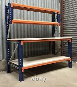 Heavy Duty Pallet Racking Work / Packing Bench (1500mm X 750mm) With Shelves