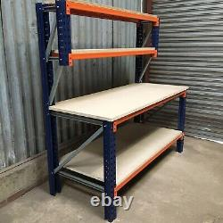 Heavy Duty Pallet Racking Work / Packing Bench (1800mm X 750mm) With Shelves
