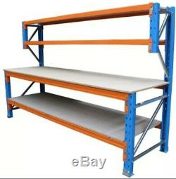 Heavy Duty Pallet Racking Work / Packing Bench (1800mm X 900mm) With Shelves