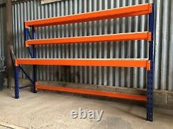 Heavy Duty Pallet Racking Work / Packing Bench (2400mm X 600mm) With Shelves