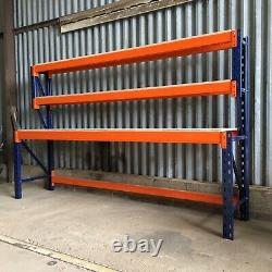 Heavy Duty Pallet Racking Work / Packing Bench (2400mm X 750mm) With Shelves