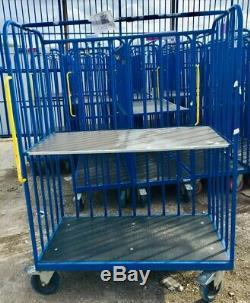 Heavy Duty Roll Cage Storage Warehouse Trolley (no shelf)