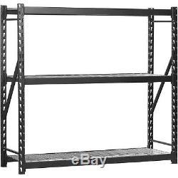 Heavy Duty Shelf Garage Steel Metal Storage 3 Level Adjustable Shelves Rack