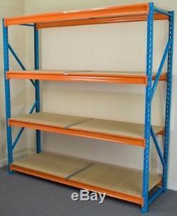 Heavy Duty Shelving 2000x1200 (HxW) 4 Different Depth Warehouse Garage Racking