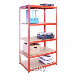 Heavy Duty Shelving 3X5 Tier Garage Workshop Racking Boltless Storage Unit Shelf