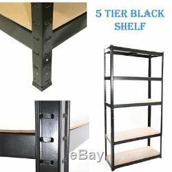 Heavy Duty Shelving Garage Racking Storage Units Boltless Thicken Shelves 5 Tier
