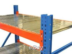 Heavy Duty Shelving Racking 3Tier 120cm Wide Metal Garage Storage £99 + VAT