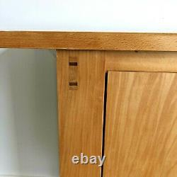 Heavy Duty Solid Natural Wood Hallway Sideboard Storage Cabinet With Shelves