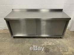 Heavy Duty Stainless Steel Cupboard With Shelves1800 MM Wide(vat Inc)