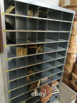 Heavy Duty Steel Pigeon 72 Hole Storage Shelving Racking Removable Dividers