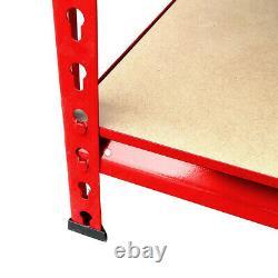 Heavy Duty Storage Racking 5 Tier Grey Shelving Boltless rivet 150x70x30 cm S247