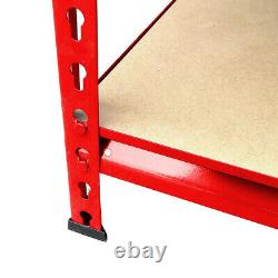 Heavy Duty Storage Racking 5 Tier Red Rivet Shelving Boltless (150 x 70 x 30 cm)