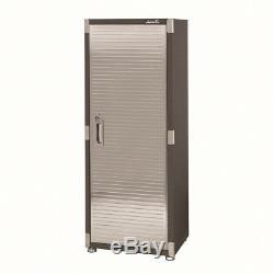 Heavy-Duty Tall Garage Storage Cabinet Lock 4 Shelves Pegboard Steel Locker Tool