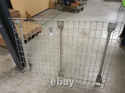 Heavy Duty Warehouse Shelving Pallet Racking With Mesh Shelves (lot Of 6 Bays)