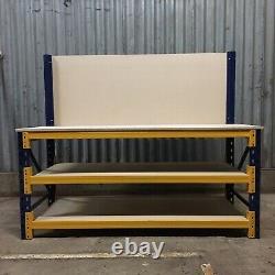 Heavy Duty Workbench With Shelves And Backboard 1200mm Wide X 600mm Deep
