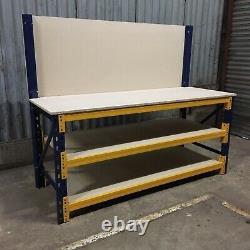 Heavy Duty Workbench With Shelves And Backboard 1500mm Wide X 750mm Deep