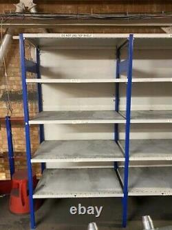 Heavy duty metal shelving 2m High. Industrial Racking As Pictured 60cm 17m