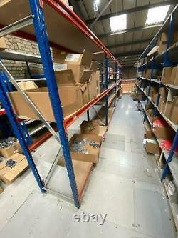 Heavy duty shelving warehouse/garage/workshop 4 bays