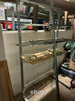 IKEA Broder self assembly heavy duty free standing metal shelving