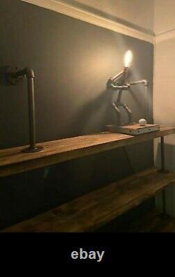 Industria retro Quirky l Heavy Duty Scaffold Board Shelf back bar