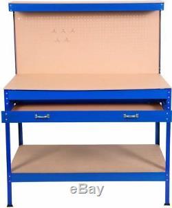 Industrial Metal Workbench Garage Tool Box Workshop Table Shelf Drawer 3 Colors