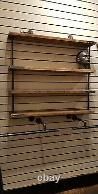 Industrial Retro Quirky Steampunk Shelf, ideal for shops bars restaurants. Homes