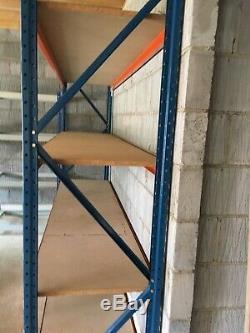 Industrial slot racking shelving heavy duty