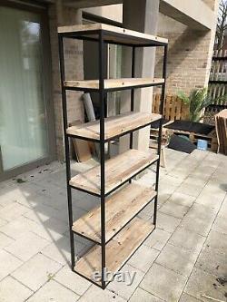 LOAF High Five Freestanding Shelving Unit, Reclaimed Fir Wood And Metal
