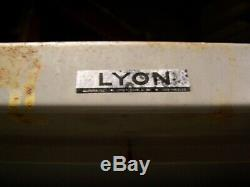 LYON STRONGHOLD 2 DOOR 4 SHELF HEAVY DUTY LOCKING CABINET 78 x 36 x 21