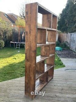 Large Bespoke Solid Bookcase. 213cm High, 122cm Wide, 30cm Deep