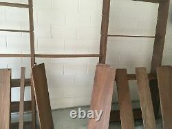 Large Bespoke Wooden Shelves. X 3 Sections. Vintage 1980's 2.7m high. Need TLC