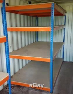 Large HEAVY DUTY RAPID RACKING SHELVING UNIT 2.4m x 1.2m Office Workshop Storage