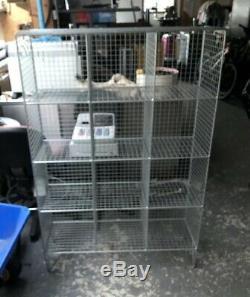 Large Industrial Metal Wire Pidgeon Hole Retail Display, Storage