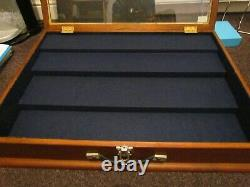 Large Jewellery/Medal Display Case Wood And Glass for Market Stall/Antiques Fair