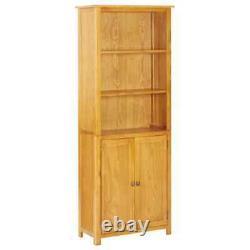 Large Rustic Bookcase Doors Solid Oak Wood Display Unit Book Shelves Bookshelf