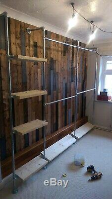 Large Scaffold storage System NEW Shelf Storage Wood Industrial Vintage