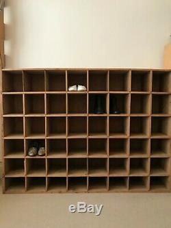 Large Vintage Reclaimed Wood CD Shelving Unit 48 Pigeon Holes