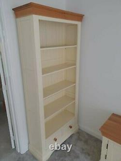 Living Room Furniture Farmhouse Bookcase Oak FurnitureLand