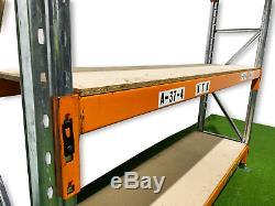 Longspan shelving, Pallet racking, Shelving H-2m x L-2.5m x D-0.6m, Heavy Duty