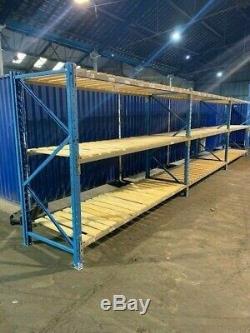 Longspan shelving, racking, Warehouse racking, Heavy duty, 900mm deep 3 levels