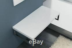 Luxury Bathroom Home Shelf Cast Stone and Bracket Heavy Duty White Full Range