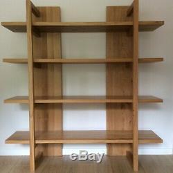 M&S Sonoma Oak Bookcase Shelving Display Unit Great condition