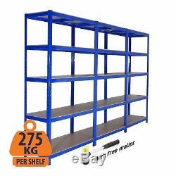 Metal Racking Garage Shelving/Heavy Duty/Storage Racking Units 275kg UDL