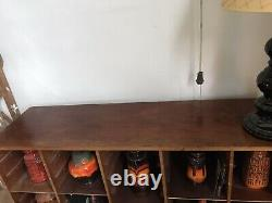 Mid-Century Sectional Bookcase Pigeonhole University Artists Display Unit OFFER